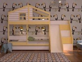 Кровать с горкой KidVillage Финляндия-6