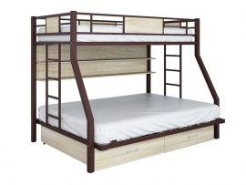 Кровать двухъярусная металлическая Гранада ПЯЯ 140