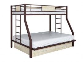 Кровать двухъярусная металлическая Гранада ЯЯ 140
