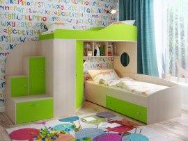 Кровать чердак Ярофф Кадет 2 с дополнительной кроватью