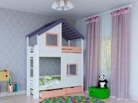 Кровать 2-х ярусная PinoLetto Kolombino-2 ( Коломбино-2 ) с прямой лестницей