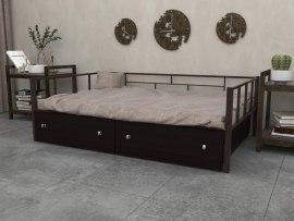 Кровать металлическая Арга с ящиками