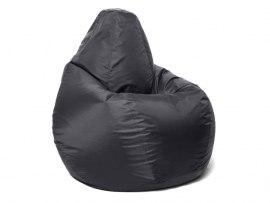 Кресло мешок Relaxline Груша в черном оксфорде