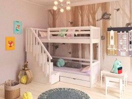 Кровать двухъярусная детская из массива дерева PinoLetto La Scala ( Ла Скала )