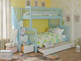 Кровать детская двухъярусная из массива дерева Vita Mia Leila ( Лейла ) 3 места