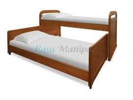 Кровать детская из массива дерева Vita Mia Мурзилка (выдвижная 2-х местная)