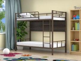 Кровать двухъярусная металлическая Ницца с полками