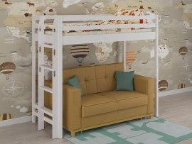 Кровать-чердак детская из массива дерева PinoLetto Patti ( Патти )