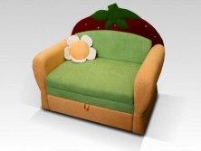 Детский диван-кровать для девочек Малина Ягодка