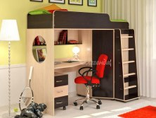 Кровать чердак для детей Легенда 4.2 ( с рабочей зоной )