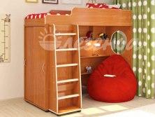 Кровать чердак Легенда 5.1 ( со встроенным шкафом )