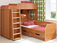 Двухъярусная кровать чердак Легенда 5.4 ( с диваном )