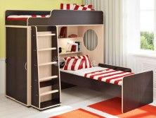 Двухъярусная кровать чердак Легенда 5.5 ( с дополнительной кроватью )