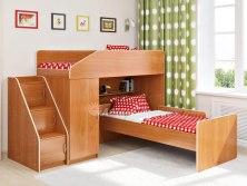 Двухъярусная кровать чердак Легенда 11.7 (с дополнительной кроватью)