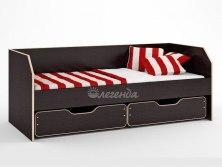 Кровать детская Легенда 13.1 ( с бортиком и выкатными ящиками )