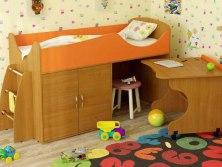 Кровать чердак Карлсон Микро 202 ( с выкатным столом и ящиками )