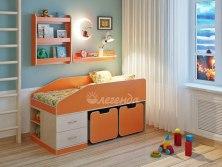 Кровать детская Легенда 8 с полками ( мини чердак )