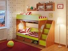 Кровать детская двухъярусная Легенда 7.3 с полками