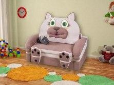 Детский раскладной диван М-Стиль Кошка