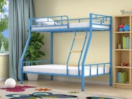 Кровать двухъярусная металлическая Радуга