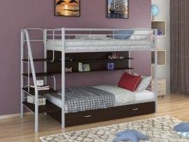 Кровать двухъярусная металлическая Толедо-ПЯ