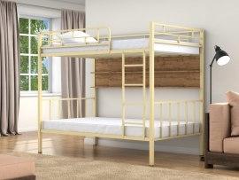 Кровать двухъярусная металлическая Валенсия 120 с полками ( для взрослых и детей )