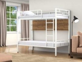 Кровать двухъярусная металлическая Валенсия с полками