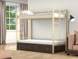 Кровать двухъярусная металлическая Валенсия с ящиками
