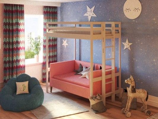 Детская кровать-чердак Vita Mia Bravo (Браво) 1