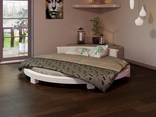 Кровать круглая Арена - цвет: Белая эмаль