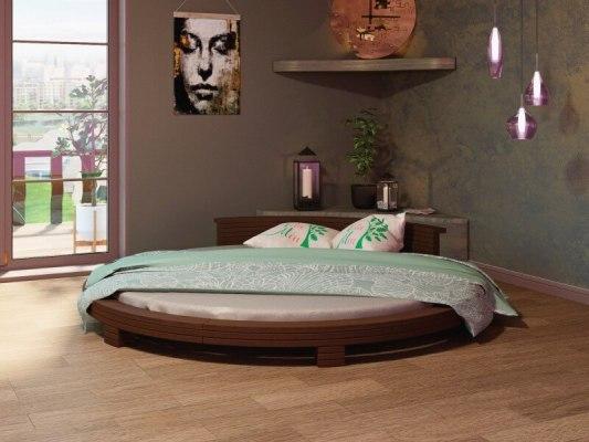 Кровать круглая Арена - цвет: Донской орех