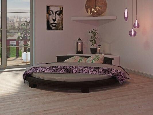 Кровать круглая Арена - цвет: Венге