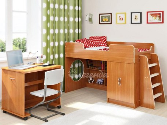 Кровать чердак Легенда 2.2 ( с письменным столом ) 1