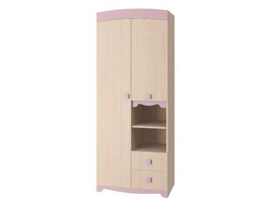 Шкаф для одежды Интеди ИД 01.140а Pink ( Дуб млечный ) 1