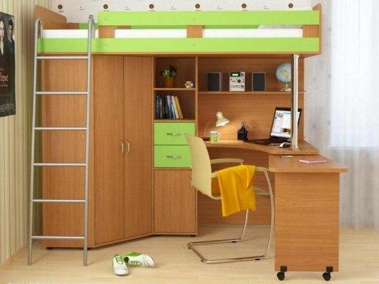 Кровать чердак Карлсон 2 ( с металлической лестницей ) 1