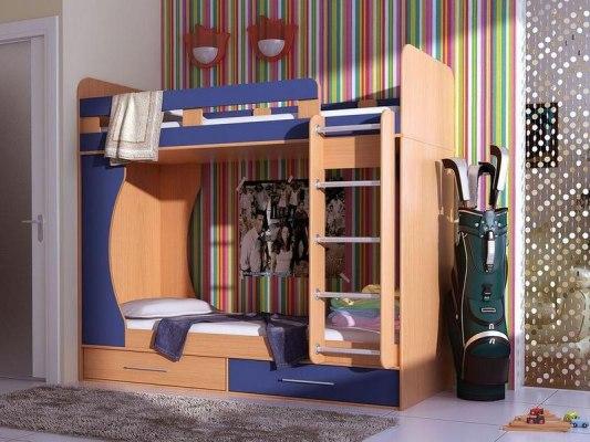 Кровать двухъярусная Карлсон Дуэт 1 ( с ящиками ) 1