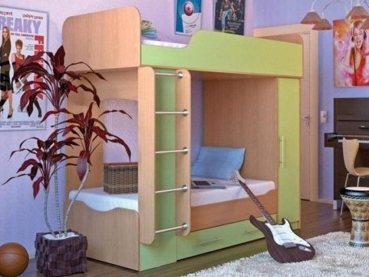 Кровать двухъярусная Карлсон Дуэт 2 ( с возможностью увеличения спального места ) 1