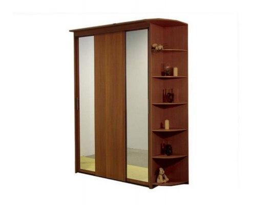 3-х дверный шкаф-купе Орматек с 2 зеркальными дверями и угловым терминалом 1
