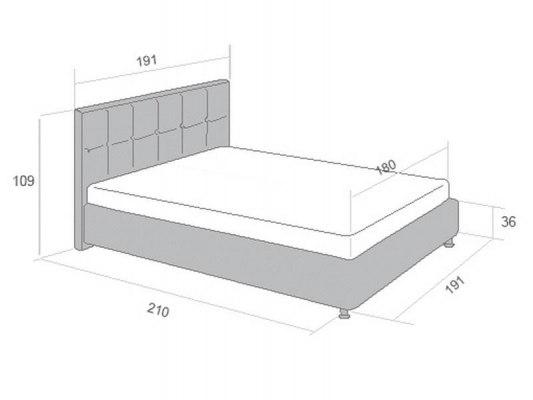 Кровать Perrino Ривьера 3.0 3