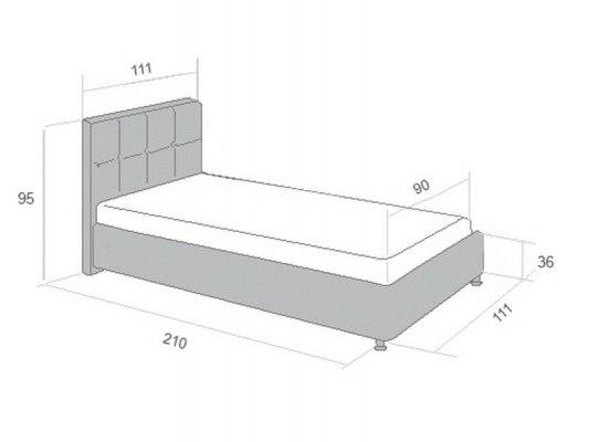 Кровать Perrino Сандра 2.0 2