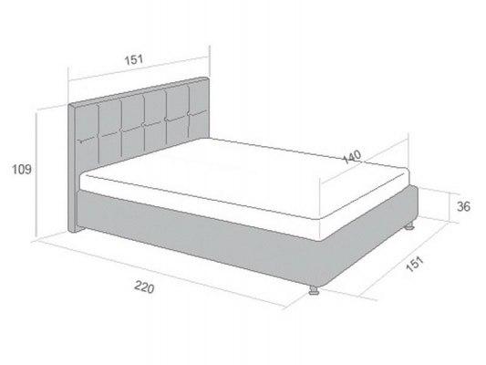 Кровать Perrino Ника 3.0 3