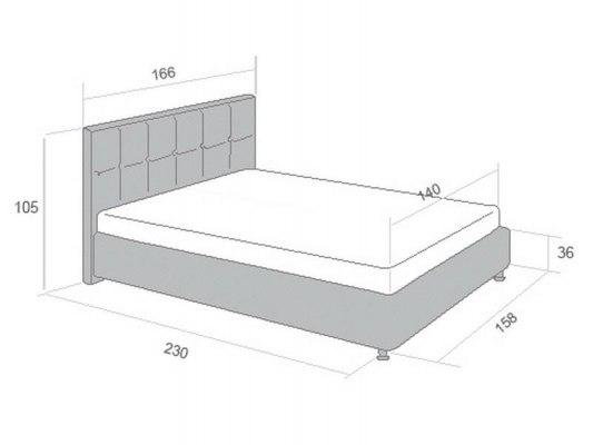 Кровать Perrino Дакота 3.0 3