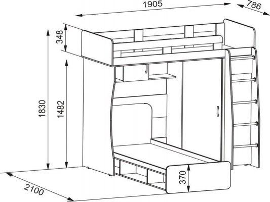 Двухъярусная кровать чердак Карлсон М3 2
