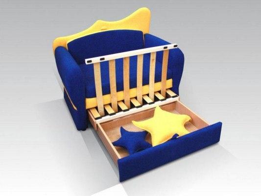 Детский раскладной диван - кровать Малина Ночка 2