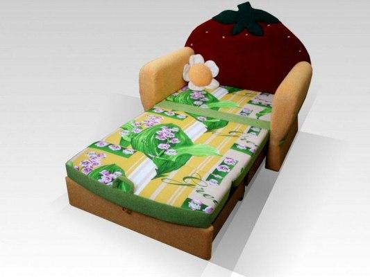 Детский диван-кровать для девочек Малина Ягодка 3
