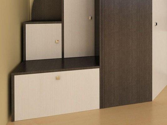 Кровать чердак Ярофф Кадет 1 со столом 4