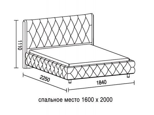 Кровать Soft Bed Diamant 1 4