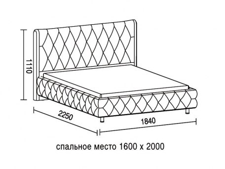 Кровать Soft Bed Diamant 2 4