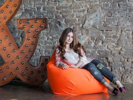 Кресло мешок Фьюжн Оранжевое ( съемный чехол ) 1