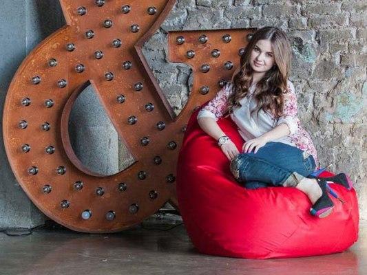 Кресло мешок Фьюжн Красное 1